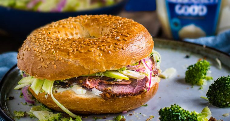 Beef Cheek Pastrami Club Sandwich